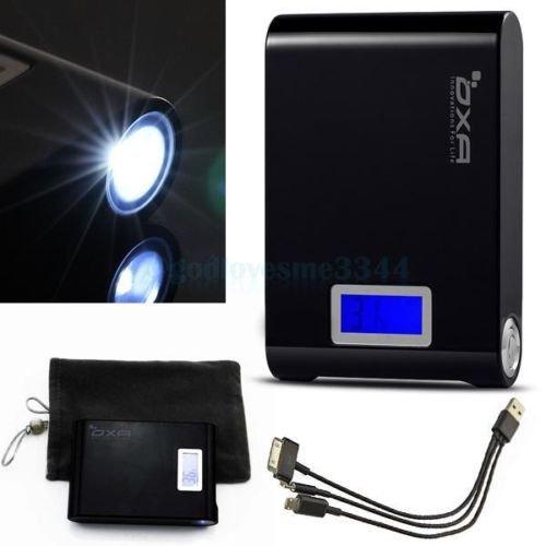 [ebay aus D] 10000mAh Dual USB Power Bank Ladegerät schwarz mit Reststrom Digitalanzeige in %