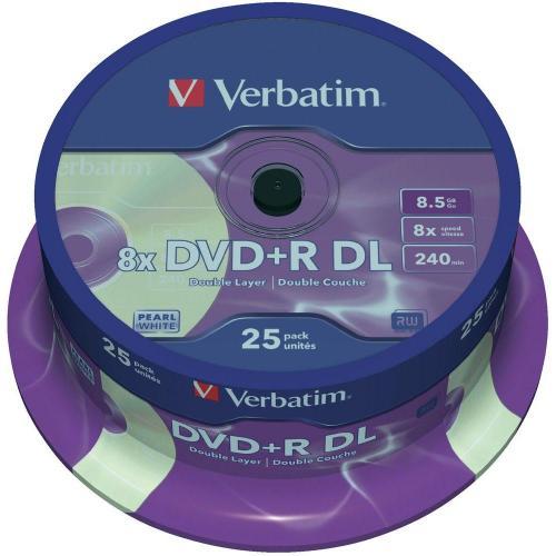 35 Verbatim DVD+R DL 8,5 GB für nur 77ct das Stück