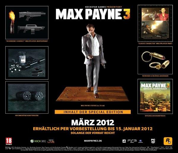 Max Payne 3 Special Edition für den PC von 75,48€ auf 24,97€ Wahnsinn Preis