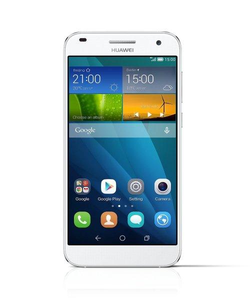 Huawei Ascend G7 Smartphone (13,97 cm (5,5 Zoll) IPS-Display, 1,2 GHz Quad-Core-Prozessor, 13 Megapixel Kamera, Android 4.4) weiß für 239,17 Euro @Amazon.fr