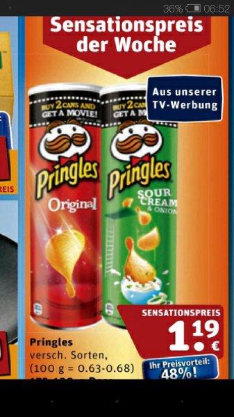 Pringles, verschiedene Sorten. Rewe ab 18.12