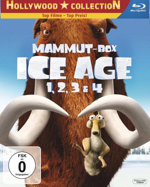 Ice Age 1, 2, 3 & 4 (Mammut-Box) (4 Blu-rays) [Blu-ray] für 19,97 Euro