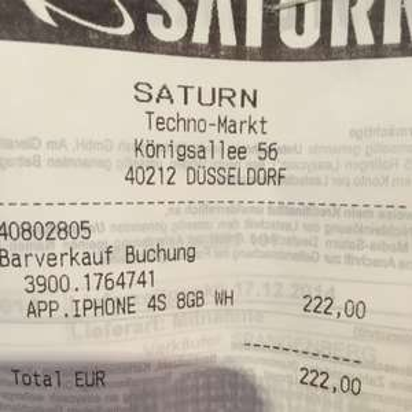 Iphone 4S 8GB (Saturn Düsseldorf)