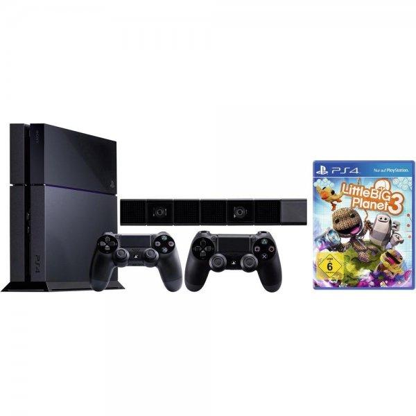 Sony Playstation® 4 Konsole 500 GB Schwarz inkl. Wireless Controller, inkl. LittleBigPlanet 3, inkl. Kamera