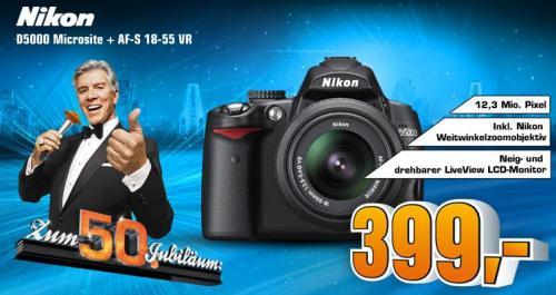 Saturn - Nikon D5000 Microsite + AF 18-55 VR