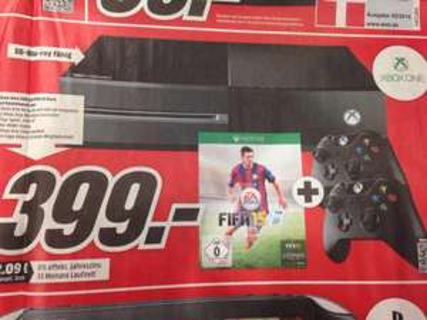 Xbox One, Fifa 15 Bundle + 2 CONTROLLER, 399 € @mediamarkt