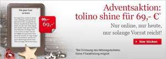 Tolino Shine bei Hugendubel für 69 Euro