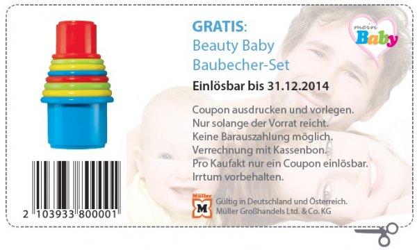 [MÜLLER BUNDESWEIT] GRATIS Baubecher-Set für Kleinkinder