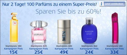 100 Parfums bis zu 60% reduziert bei Jalea