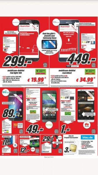 Blau.de Karten 10 Euro bei Media Markt für 3 Eur PSN