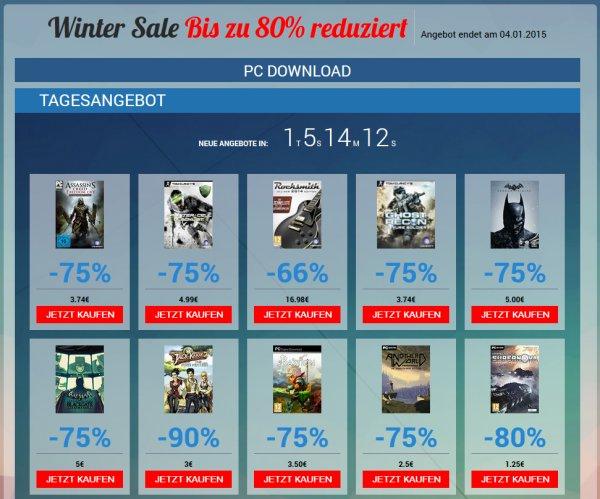 Ubisoft Winter Sale - Games bis zu 90% reduziert (PC Download)