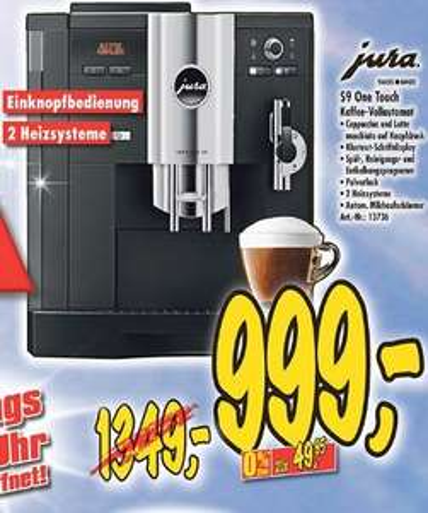 (lokal) Jura Impressa S9 One Touch - Kaffee Vollautomat