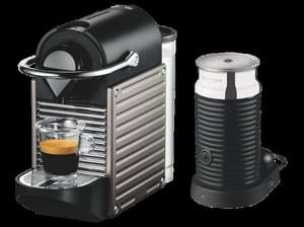 KRUPS Nespresso Pixie XN301T Edelstahl + Aeroccino3 - 129,- € abzgl. 70,-€ Cashback - [saturn.de]