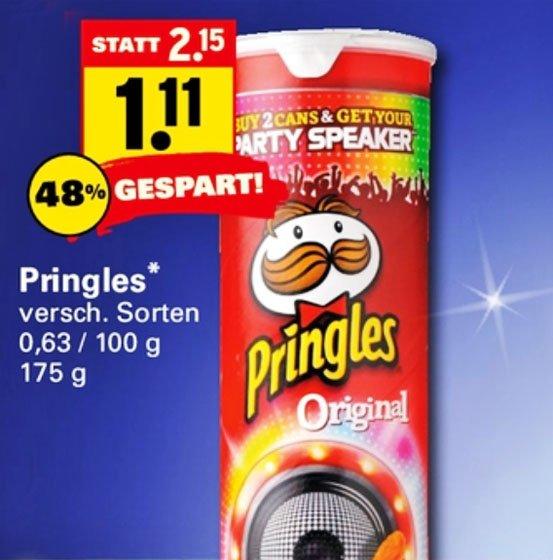Pringles 1,11€  verschiedene Sorten ab Montag bei [ Netto mit Scottie ]