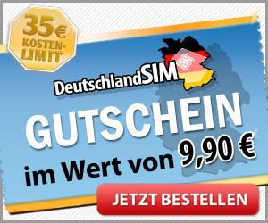 DeutschlandSIM 9 Cent -  Gratis Simkarte (statt 9,90 €) mit Kostenschutz Flat (ab 35 €)