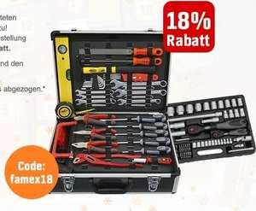Werkzeugkoffer inkl. Steckschlüsselsatz für 140€ statt 180€ - OBI.de