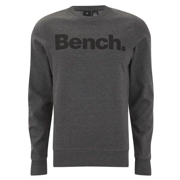 BENCH MENx27S BENCH CREW CORP SWEATSHIRT - ANTHRACITE MARL
