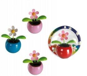 Bei Rakuten 4 x Flip Flap Wackelblumen Solar Power Flower Wackel Blumen Gänseblümchen  in 4 knalligen Farben - statt 19,99 nur 8,89