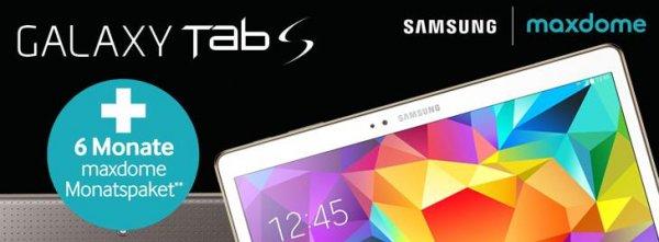 "Samsung Tab S 10.5"" LTE inkl. Daten Flat ab 19,99€/M +6 Monate maxdome"