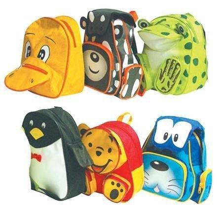 Bei Yatego Lustige Kinderrücksäcke in Tiermotiven Puh der Bär, Duffy Duck, Kuh, Bello, Pinguin statt 12,99 nur 7,99