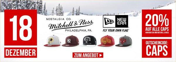 20% auf New Era und Mitchell & Ness Caps Kickz.com online