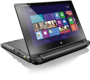 Lenovo Flex 10 25,6 cm (10,1 Zoll HD LED) Convertible Notebook (Intel Celeron N2806, 1,6GHz, 2GB RAM, 500GB HDD, Intel HD Graphics, Touchscreen, Win 8) schwarz