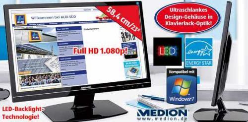 ALDI SÜD LED-Blacklight Monitor MEDION® AKOYA® X54999 58,4 cm/23''