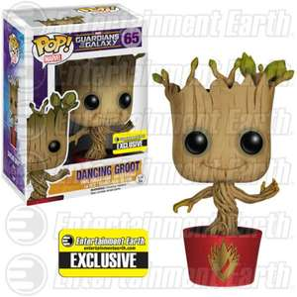 Marvel Guardians of the Galaxy Ravagers Logo Dancing Groot Pop! Vinyl Figure - EE Exclusive