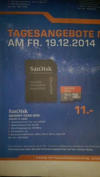 SanDisk Ultra 32gb, inkl. Adapter Saturn Dortmund, Lünen, Soest