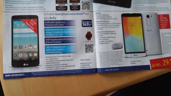 LG L Bello + StarterSet bei Aldi Süd