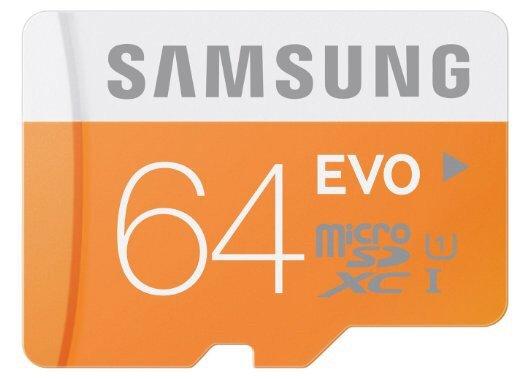 Samsung Memory 64GB EVO Micro SDXC UHS-I Grade 1 Class 10 Speicherkarte für 26,12 Euro @Amazon.co.uk