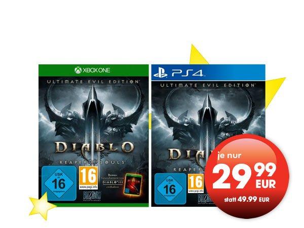 Diablo 3 Ultimate Edition für PS4 und Xbox One für 29.99 Gamestop (LOKAL)