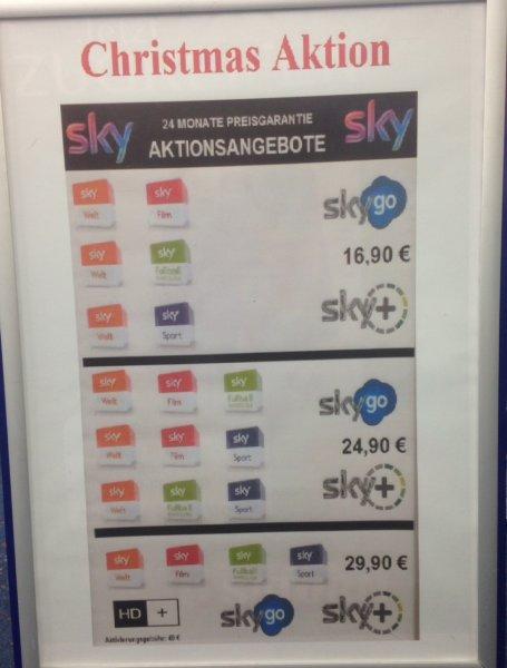 Lokal Saturn Herford: SKY Abo: SKY GO + SKY WELT + EIN ANDERES PAKET + FESTPLATTN Receiver für 16,90€ !!!