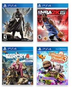 Destiny, NBA 2K15, Far Cry 4 oder Little Big Planet 3 jeweils als US-PS4-Version für umgerechnet 24,77€