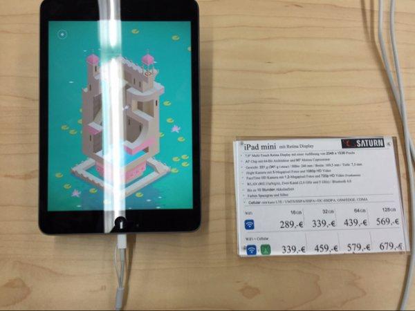 iPad Mini 2 Retina 16gb + Cellular | Saturn Kudamm