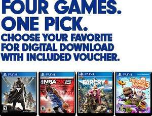 Destiny, NBA2K15, FarCry4, LBP3 PS4 Download Code bei Gamedealdaily für 24,77 €