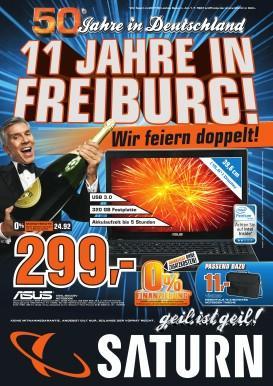 [Lokal] Saturn Freiburg 11 Jahre Geburtstag Angebote - z.B. Canon EOS 600D Kit 18-55 mm 599 €, Sony PSP Base Pack 3004 slim lite 111 €, James Bond Casino Royale Blu-Ray für 4 €, weitere Angebote in der Beschreibung