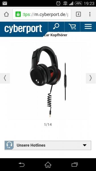 Philips SHO9207/10 Ox27Neill Crash HD-Kopfhörer für Apple iPhone (105dB) schwarz/rot62,99 euro Vergleich 118 euro