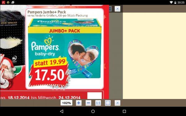 Pampers Jumbo 17,50€ mit Gutschein 13,50€ bei Combi