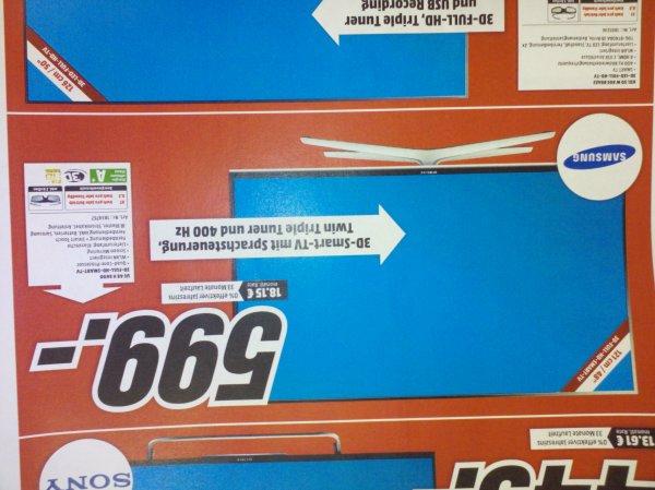 Lokal Media Markt Weiterstadt..Samsung 48 H 6600 für 599€ / idealo Vergleich inkl. Versand 685€