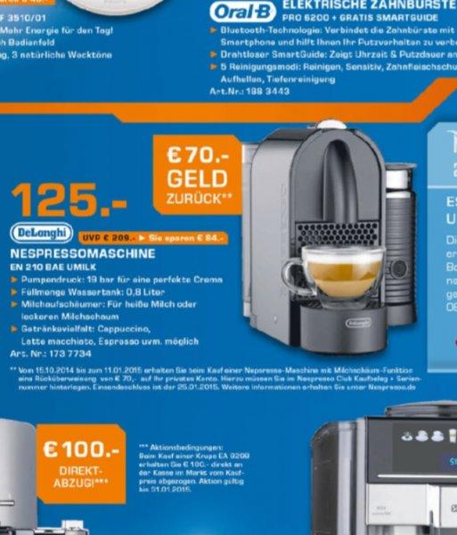 Delonghi Nespresso Umilk EN 210 BAE (bundesweit)