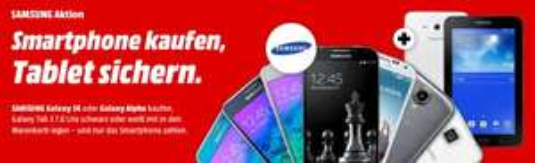 Media Markt Samsung Galaxy S4 + kostenlos SAMSUNG GALAXY Tab 3 7.0 Lite Wi-Fi