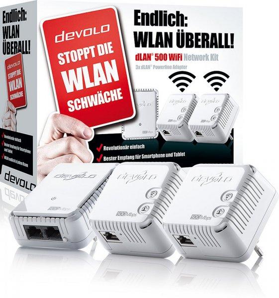 Saturn online /offline DEVOLO 9090 DLAN 500 WIFI Network Kit mit 3 Adaptern