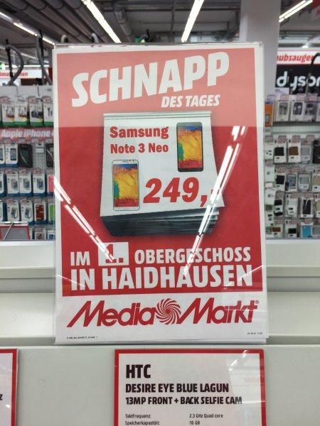 Samsung Note 3 Neo 249 € Mediamarkt München Haidhausen Einsteinstr 130