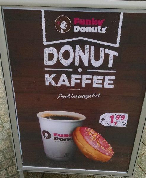 [lokal Oldenburg] Funky Donuts - Donut & Kaffee Probierangebot
