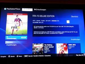 Fifa 15 Deluxe Edition PS3 29,99 € @PSN