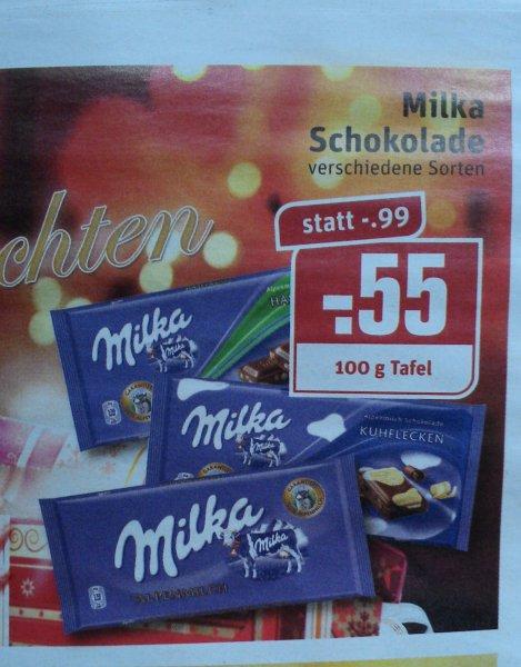 REWE - Milka 100g Tafel für 0.55€ in KW52