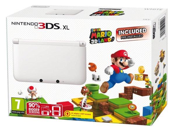 Nintendo 3DS XL Weiß mit Super Mario 3D Land für 180,45€ inkl. Versand (amazon.co.uk)
