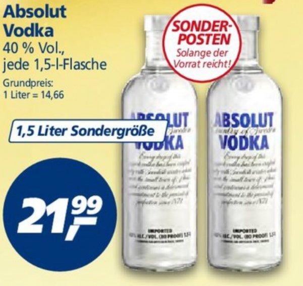 [REAL Lokal] Absolut Vodka 1,5 Liter - vom 22.12.-31.12.2014