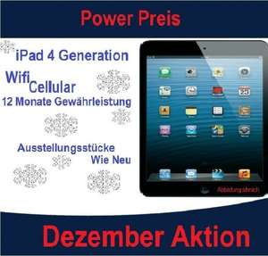 Apple iPad 4  - 16GB WiFi + Cellular + Austellungsstücke